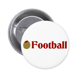 Olive (I Love) Football Button