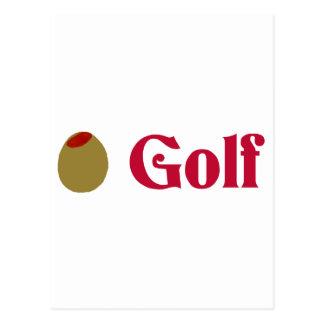 Olive (I Love) Golf Postcard