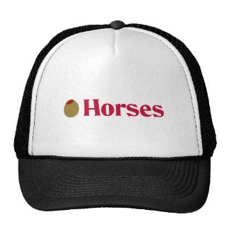 Olive (I Love) Horses Mesh Hats
