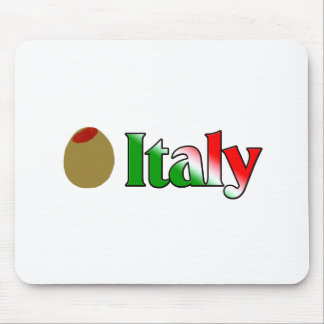 Olive I Love Italy Mouse Pad
