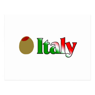 Olive (I Love) Italy Postcard