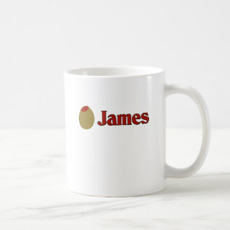Olive (I Love) James Coffee Mugs