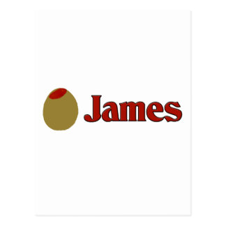 Olive (I Love) James Postcard