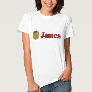 Olive (I Love) James Tee Shirt