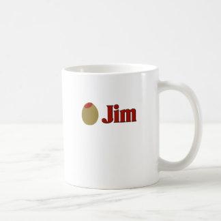Olive (I Love) Jim Basic White Mug