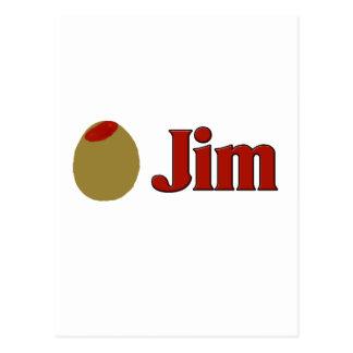 Olive (I Love) Jim Postcard