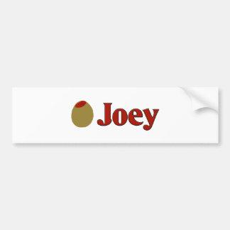 Olive (I Love ) Joey Car Bumper Sticker
