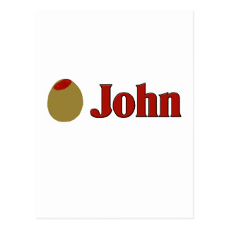 Olive (I Love) John Postcard