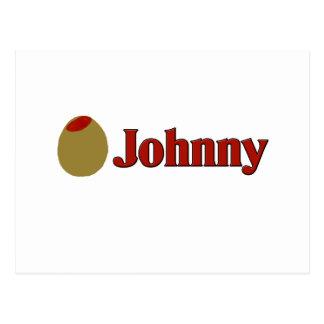 Olive (I Love) Johnny Postcard