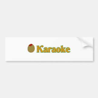 Olive (I Love) Karaoke Bumper Stickers