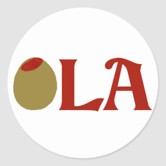 OLIVE (I Love) LA Classic Round Sticker