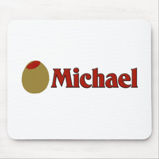 Olive I Love Michael Mouse Pad