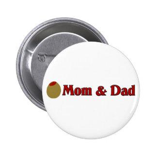 Olive (I Love) Mom & Dad Pinback Button