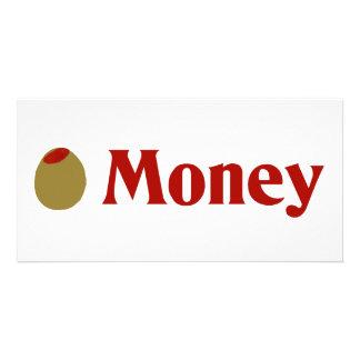 Olive I Love Money Personalized Photo Card
