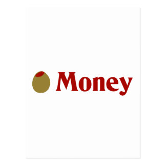 Olive (I Love) Money Postcard