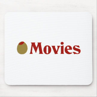 Olive I Love Movies Mousepads