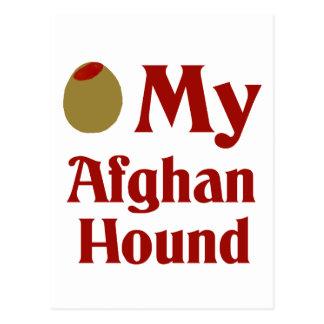 Olive (I Love) My Afghan Hound Postcard