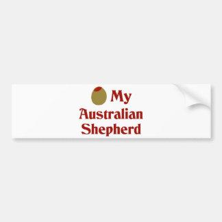 Olive (I Love) My Australian Shepherd Bumper Stickers