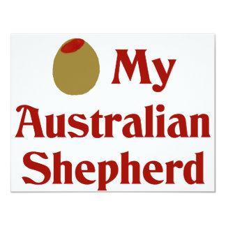 Olive (I Love) My Australian Shepherd Invite