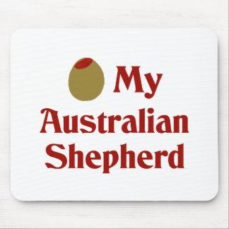 Olive (I Love) My Australian Shepherd Mouse Pad