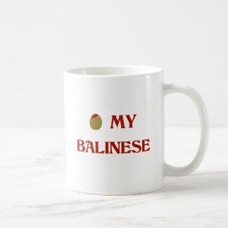 Olive (I Love) My Balinese Coffee Mugs