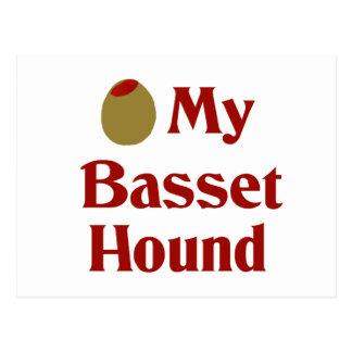 Olive (I Love) My Basset Hound Postcard