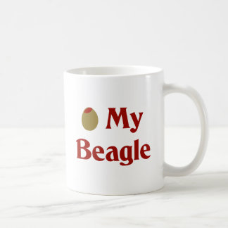 Olive (I Love) My Beagle Coffee Mugs