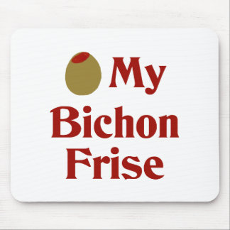 Olive (I Love) My Bichon Frise Mouse Pads