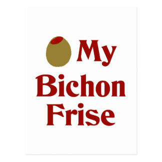Olive (I Love) My Bichon Frise Postcard
