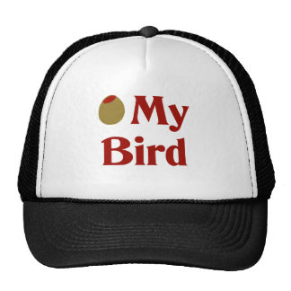 Olive (I Love) My Bird Trucker Hat