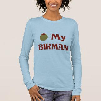 Olive (I Love) My Birman Long Sleeve T-Shirt