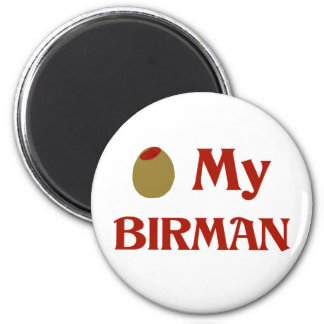 Olive (I Love) My Birman Refrigerator Magnet