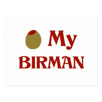 Olive (I Love) My Birman Postcard