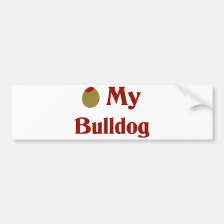 Olive (I Love) My Bulldog Bumper Sticker