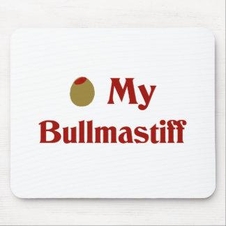 Olive (I Love) My Bullmastiff Mouse Pads