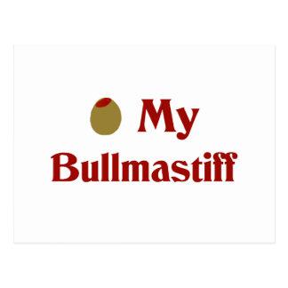 Olive (I Love) My Bullmastiff Postcard