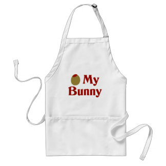 Olive (I Love) My Bunny Adult Apron
