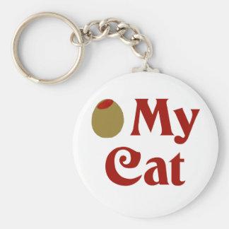 Olive (I Love) My Cat Key Chain