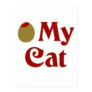Olive (I Love) My Cat Postcard