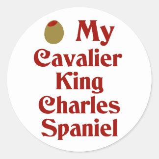 Olive (I Love) My Cavalier King Charles Spaniel Classic Round Sticker