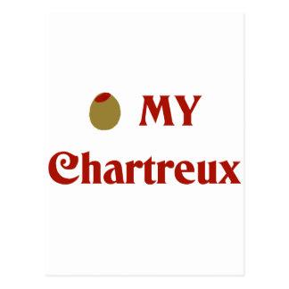 Olive (I Love) My Chartreux Postcard