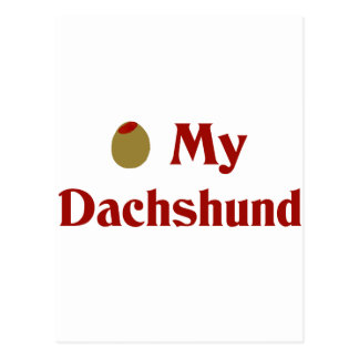 Olive (I Love) My Dachshund Postcard