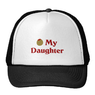 Olive (I Love) My Daughter Trucker Hat