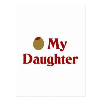 Olive (I Love) My Daughter Postcard