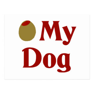 Olive (I Love) My Dog Postcard