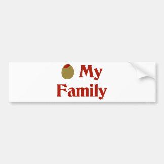 Olive (I Love) My Family Car Bumper Sticker