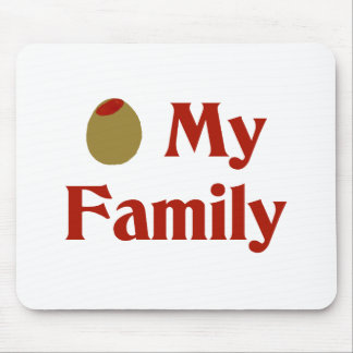 Olive I Love My Family Mousepads