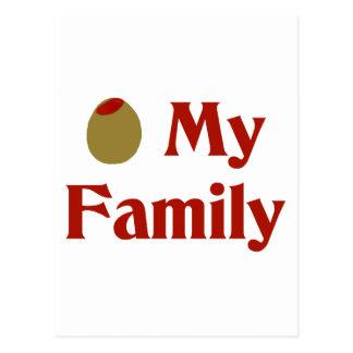 Olive (I Love) My Family Postcard