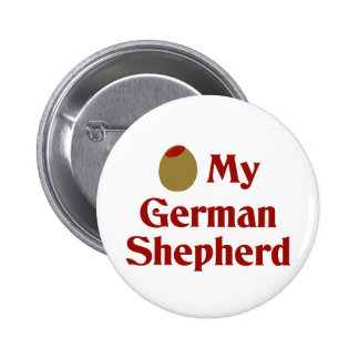 Olive (I Love) My German Shepherd Pinback Button