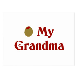 Olive (I Love) My Grandma Postcard